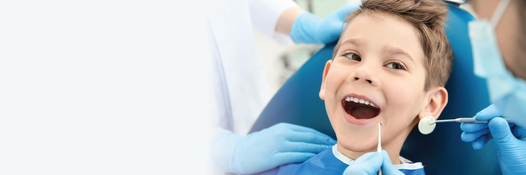 young boy at the dentist in jonesboro ar