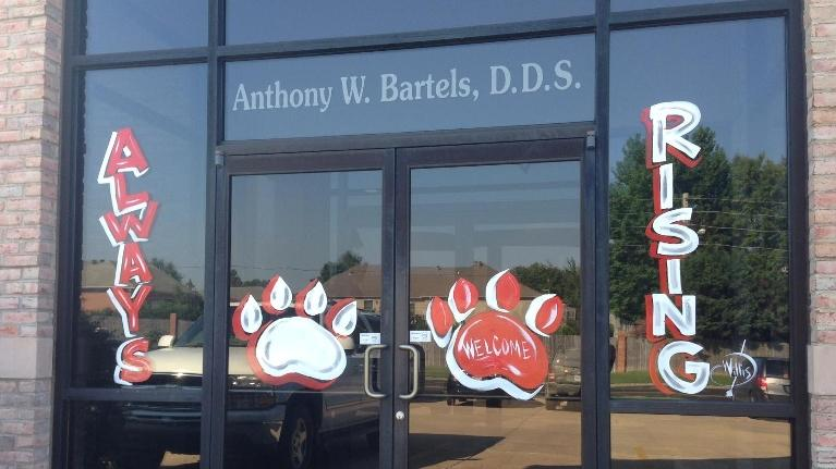 Wolves Football Window | Jonesboro AR Dentist