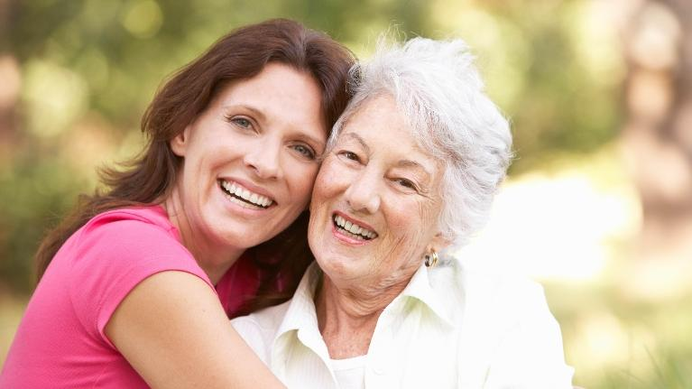 Adult woman with her mother | Jonesboro ar dentist