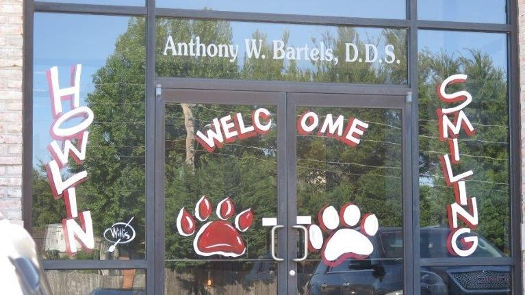 Go Wolves! Window | Anthony Bartels Family Dentist